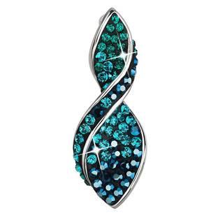 Stříbrný přívěšek s krystaly Crystals from Swarovski®, Magic Green