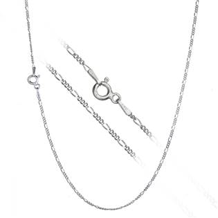 Stříbrný řetízek figaro, š. 1 mm, délka 42 cm