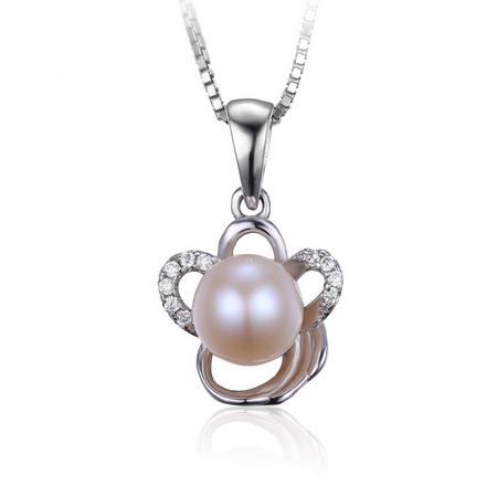 Strieborný prívesok prírodné perla