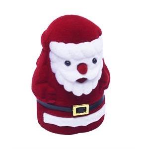Vianočná darčeková krabička na prsteň - santa claus