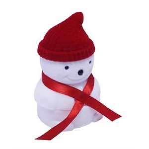 Vianočná darčeková krabička na prsteň - snehuliak