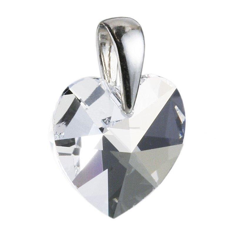 Stříbrný přívěšek srdce z dílny Crystals from Swarovski® Crystal
