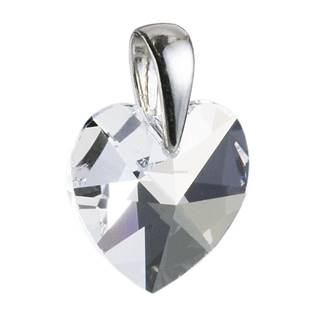 Stříbrný přívěšek srdce z dílny Crystals from Swarovski® Crystal 10x10 mm