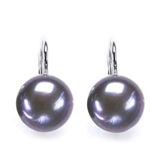 Strieborné náušnice prírodné perly 10 mm