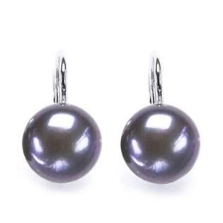 CS5102 Stříbrné náušnice přírodní perly 10 mm