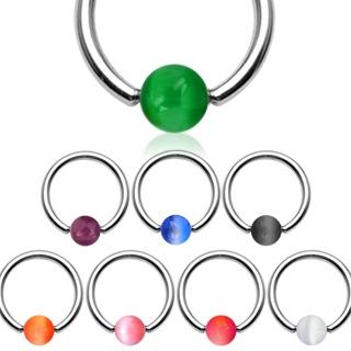 Piercing kruh akrylát, rozmer 1,2 x 10 mm