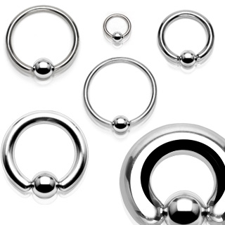 Piercing - kruh s kuličkou