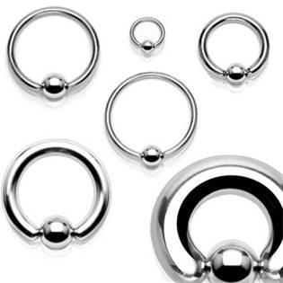 Šperky4U Piercing - kruh s kuličkou - K1015-991912