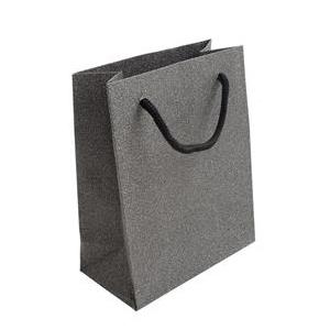 Malá darčeková taška striebristo šedá