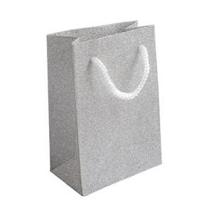 Malá darčeková taška strieborná