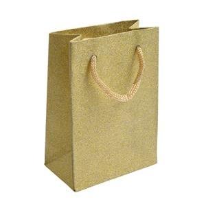 Malá darčeková taška zlatá