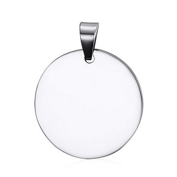 Ocelový přívěšek kruh 30 mm
