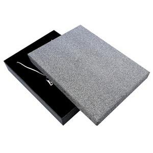 Veľká krabička na súpravu šperkov, strieborne šedá / čierna