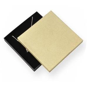 Krabička na soupravu šperků, zlatá/černá