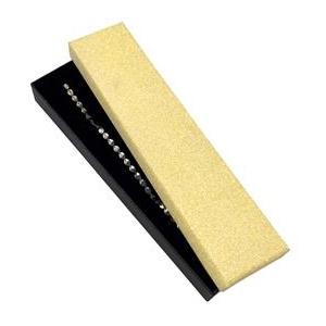 Darčeková krabička na náramok, zlatá / čierna