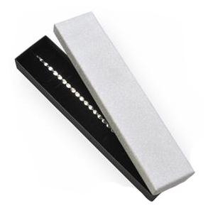 Darčeková krabička na náramok, strieborná / čierna
