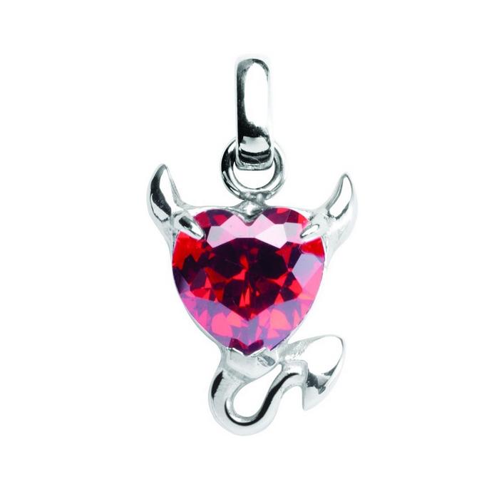Oceľový prívesok s kryštálom Swarovski ®, Red