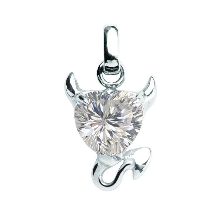 Oceľový prívesok s kryštálom Swarovski ®, Crystal