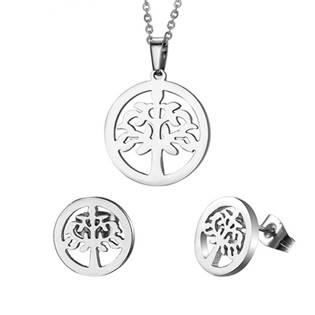 Set šperků z chirurgické oceli, strom života
