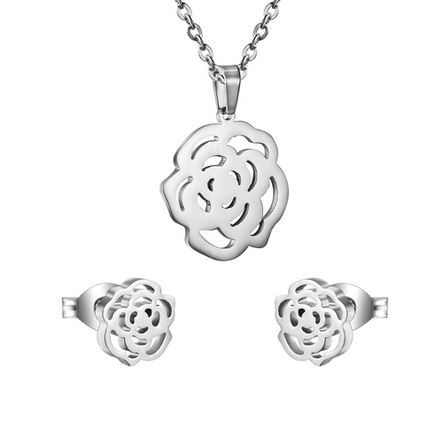 Set šperkov z chirurgickej ocele, ružičky