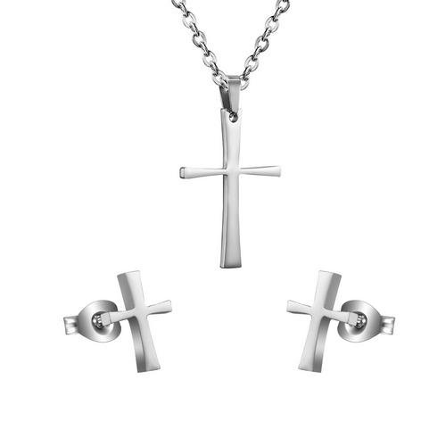 Set šperkov z chirurgickej ocele, krížiky