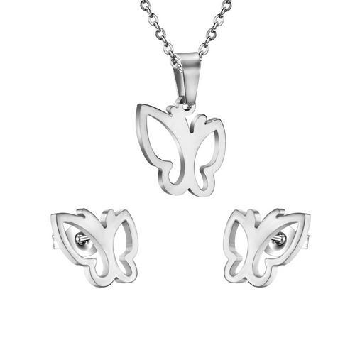 Set šperkov z chirurgickej ocele, motýle