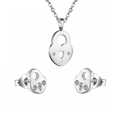 Set šperkov z chirurgickej ocele, kaštiele