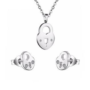 SET0012 Set šperků z chirurgické oceli, zámečky