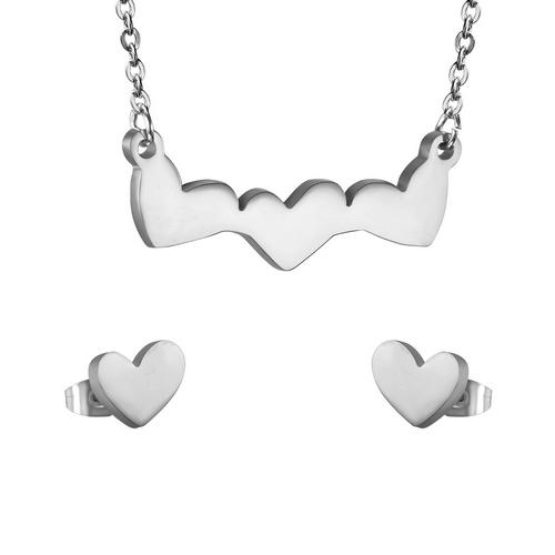 Set šperkov z chirurgickej ocele, srdiečka