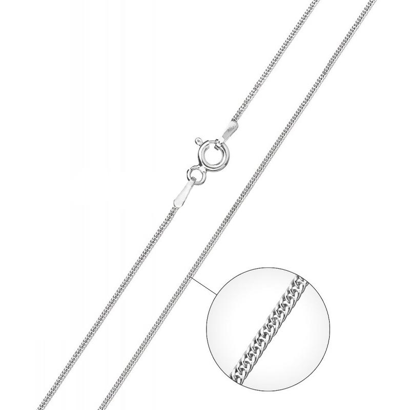 Stříbrný řetízek pancer 0,8 mm, délka 45 cm