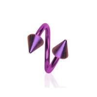Piercing špirála svetlo fialová 1,2 x 10 mm