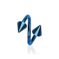Piercing špirála modrá 1,2 x 10 mm