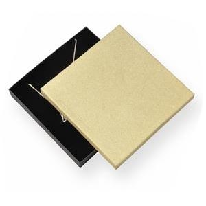 Veľká krabička na súpravu šperkov, zlatá / čierna