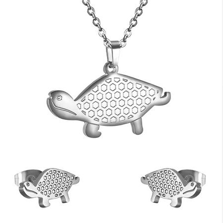 Set šperkov z chirurgickej ocele, korytnačky