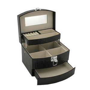 Šperkovnice - černá koženka SVK1070-K