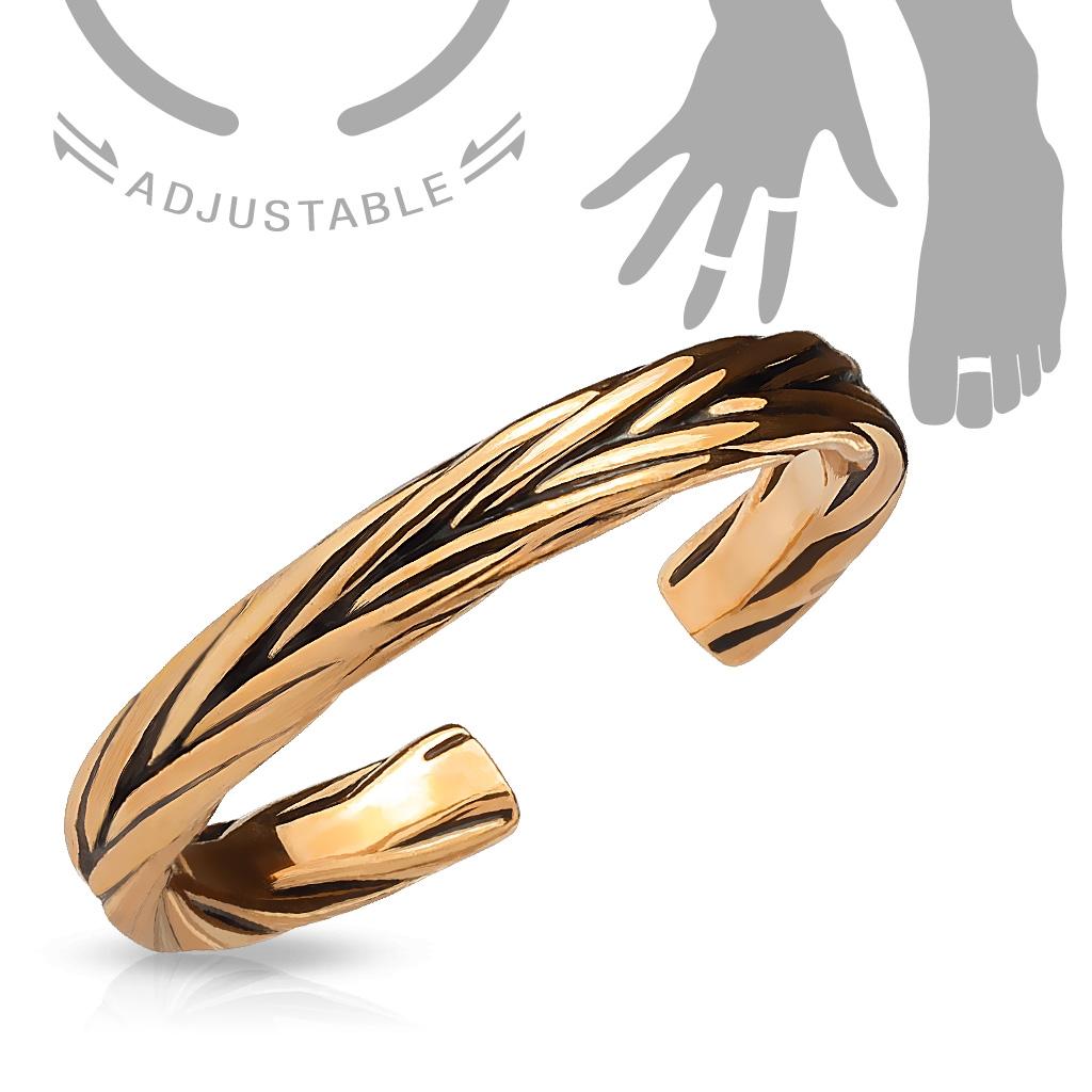 Zlacený prsten na nohu