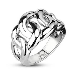 Pánský splétaný ocelový prsten