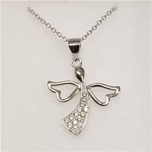 Stříbrný náhrdelník s andílkem