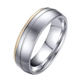 Levně OPR0042 Pánský ocelový snubní prsten - velikost 65 - OPR0042-P-65