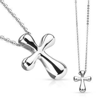 Ocelový náhrdelník - kříž