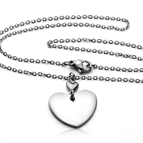 Oceľový náhrdelník - srdce