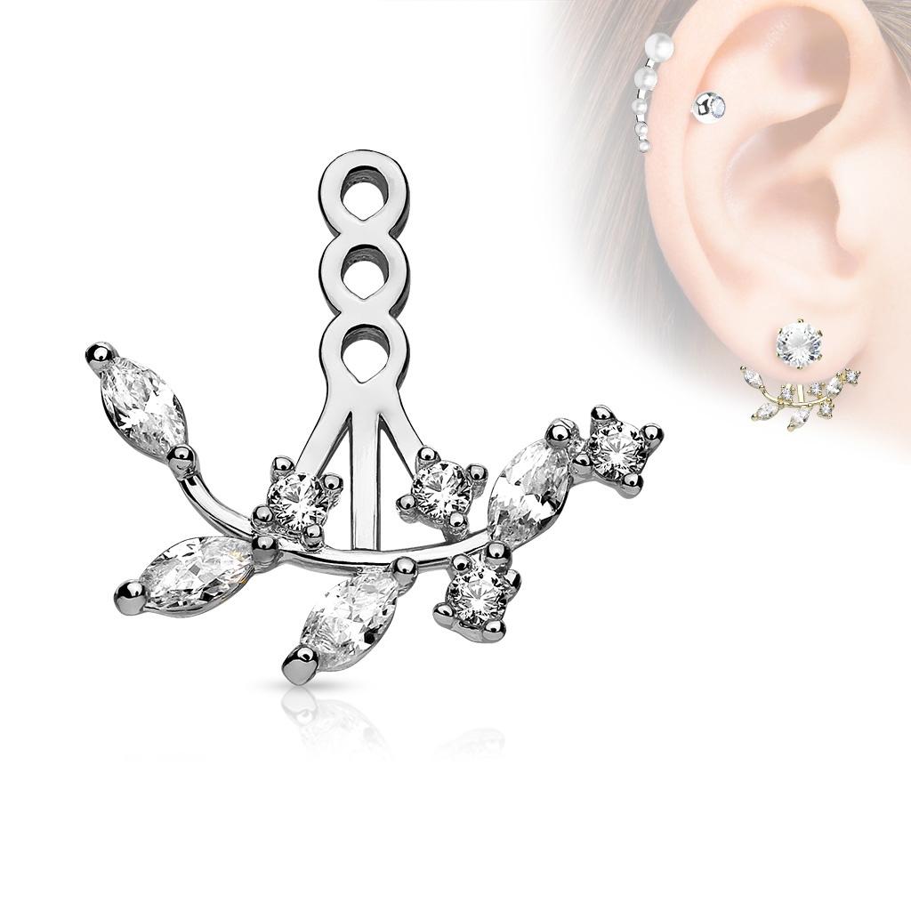 Zanáušnice - ozdobná časť k puzetovej náušnici na pravé ucho