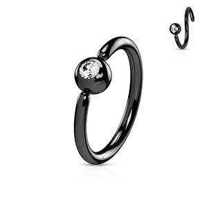 Piercing - černý kruh, kulička 3 mm