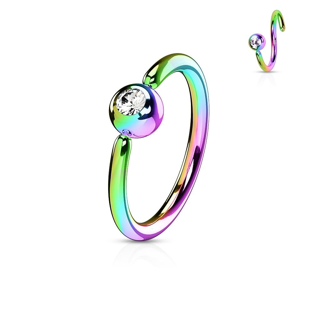 Piercing - dúhový kruh, gulička 3 mm