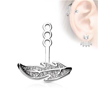 Zanáušnice - ozdobná část k puzetovým náušnicím - 1 kus na levé ucho
