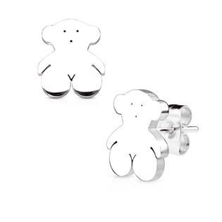 Ocelové náušnice - medvídci