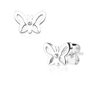 Ocelové náušnice - motýlci