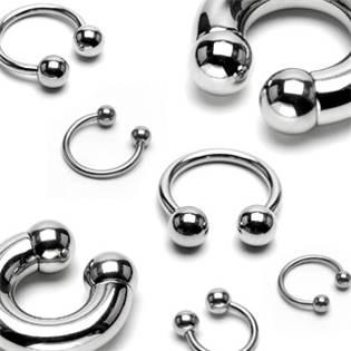 Piercing - podkova 1,2x14 mm, 4 mm kuličky