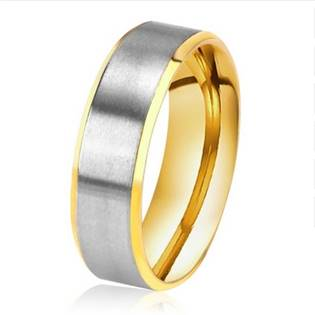 Pánský ocelový prsten, šíře 6 mm, vel. 62