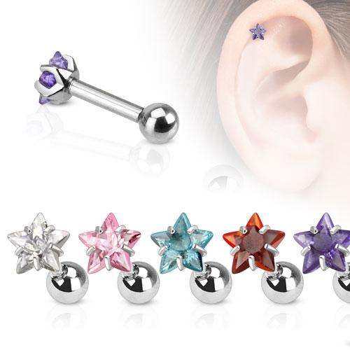 Cartilage piercing do ucha hvězda